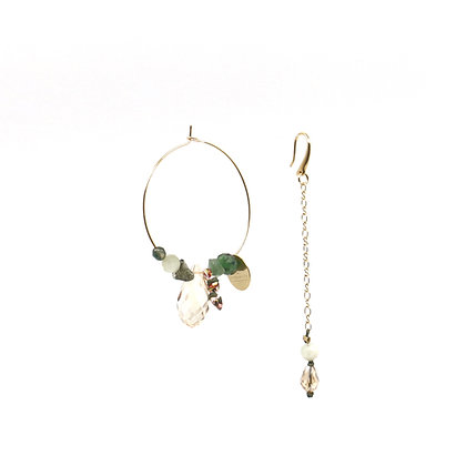 Boucles d'oreilles Ethnic Lady - Green