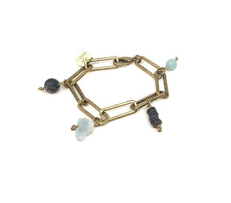 Bracelet Tribal Blue stones