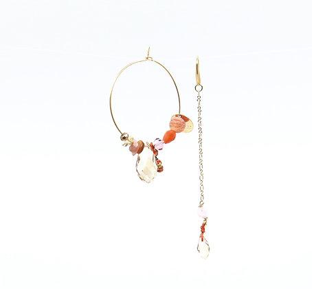 Boucles d'oreilles Ethnic Lady -Papaye