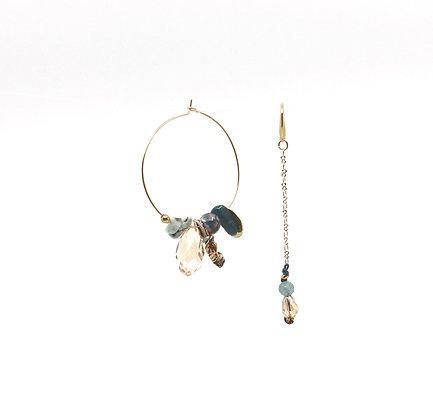 Boucles d'oreilles Ethnic Lady- Ocean
