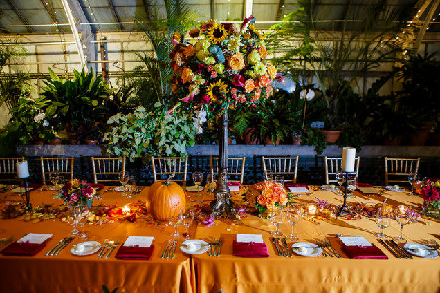 Fall Conservatory Wedding at Biltmore