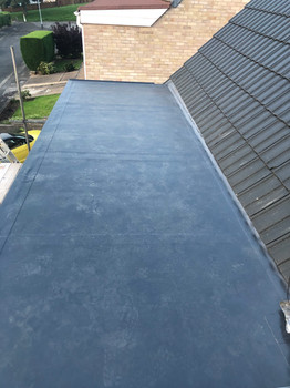 Flat dorma roof
