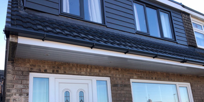 New soffit and fascias with anthracite guttering