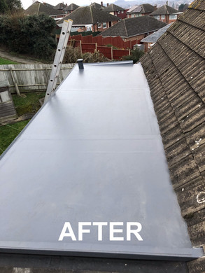 After of dorma roof