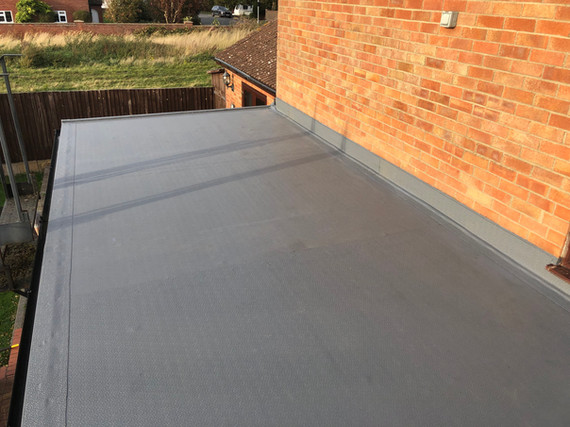 Flat roof on rear extension