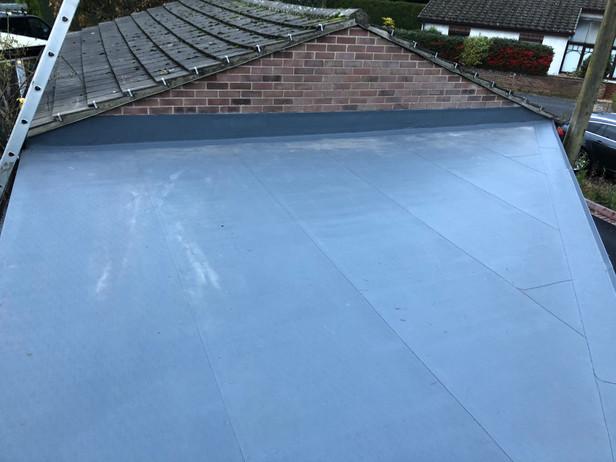 Flat garage roof