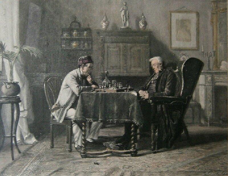 PORTIELJE Gérard (1856 – 1929)  The Ches