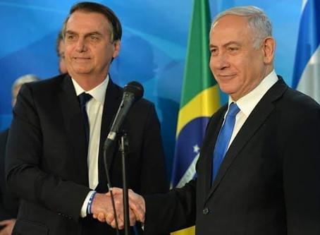 Primeiro ministro Netanyahu conversa com o Presidente Jair Bolsonaro