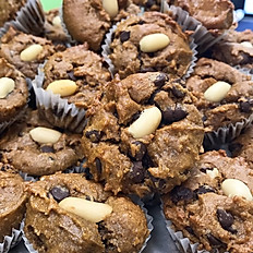 nuts over chocolate mini muffin