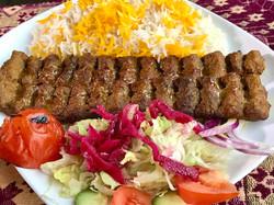 Chelow kebab kobideh