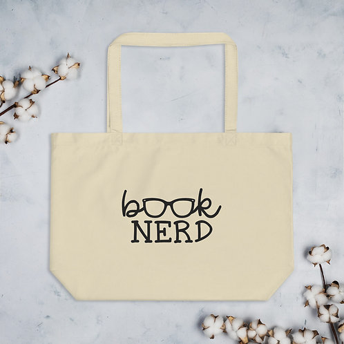 Book Nerd Large organic tote bag