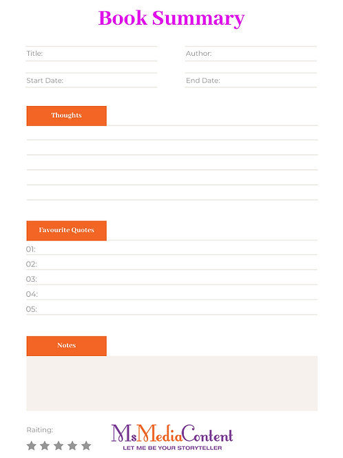 Book Summary - Orange