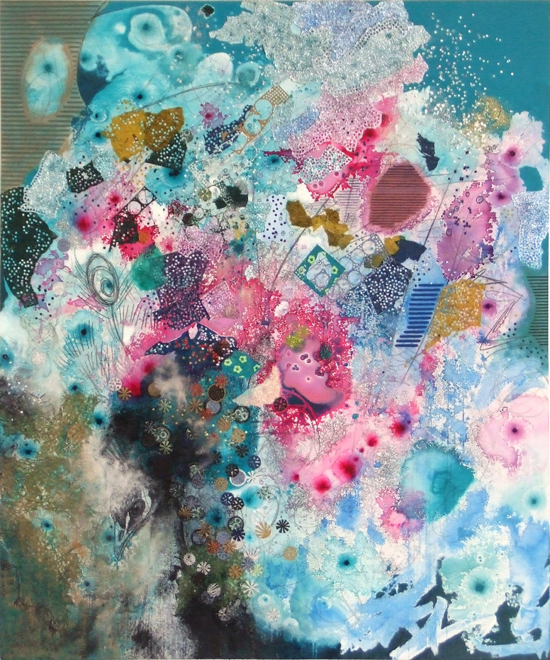 2008-10, mixed media on canvas, 72 x 60 inches