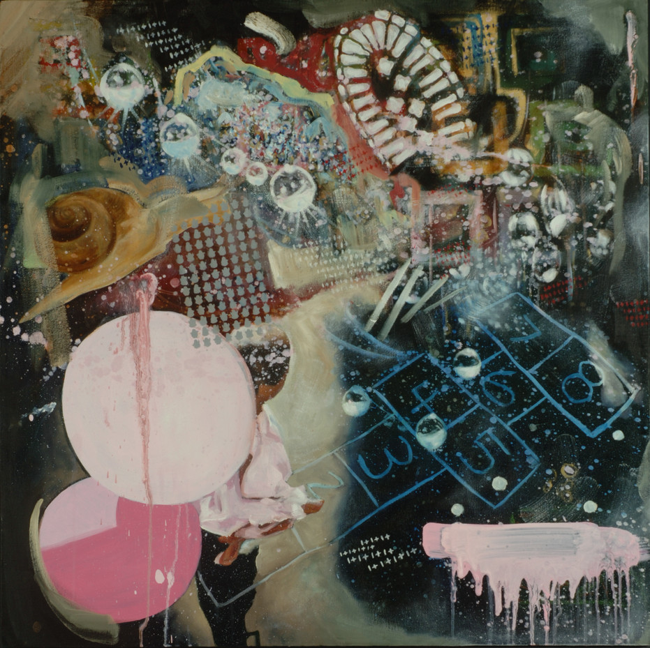Untitled, oil on canvas, 30 x 30 inches, 2007