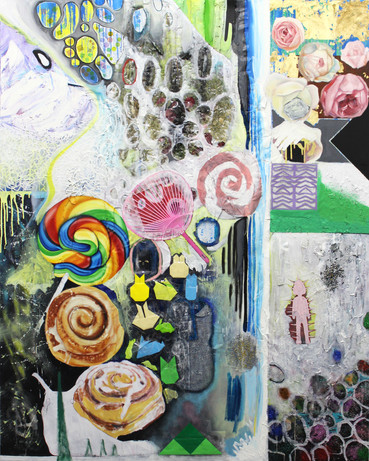 2015-4, 2015, mixed media on canvas, 60 x 48 inches