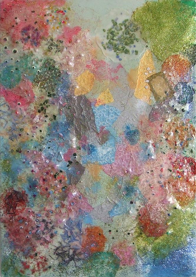 2008-7, mixed media on canvas