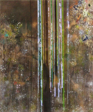 2008-12, mixed media on canvas, 72 x 60 inches