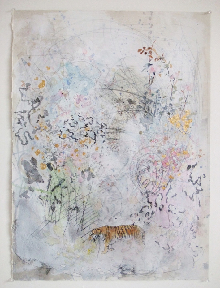 2008-4, mixed media on canvas, 30 x 22 inches