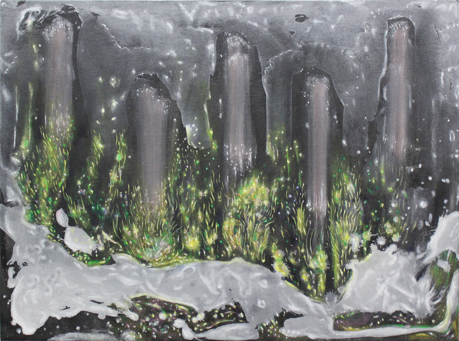 2018-15, acrylic on canvas, 23 x 31 inches