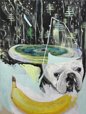 2016-4, oil on canvas, 40 x 30 inches