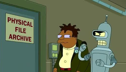 "Archives on TV: Futurama, ""Lethal Inspection"""