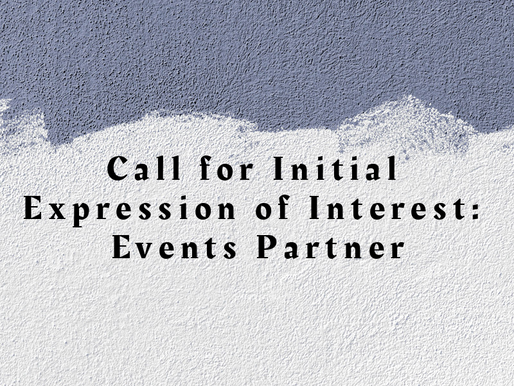 Call for Initial Expression of Interest: Events Partner