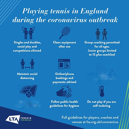 LTA tennis guidelines for Essex tennis