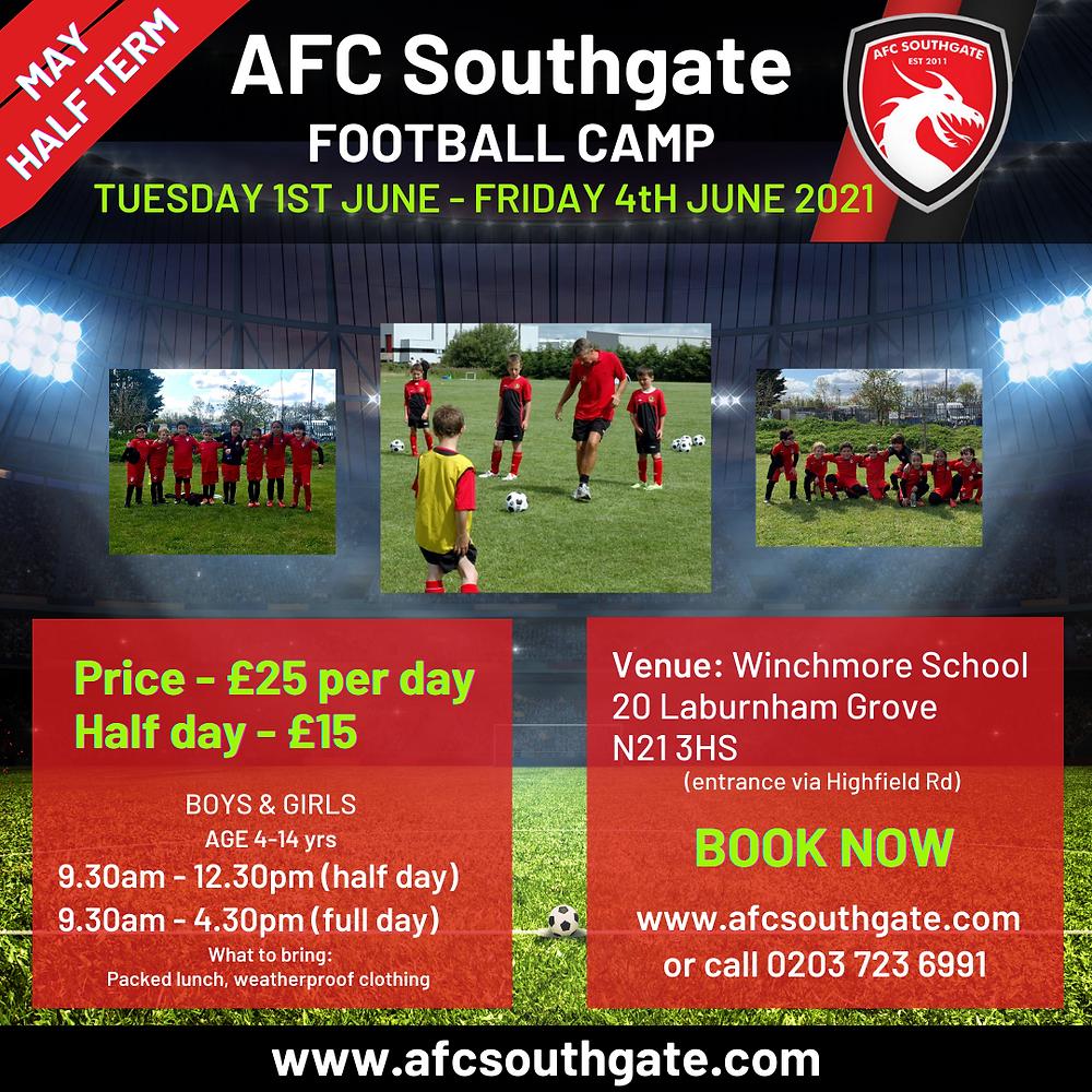 AFC Southgate Football Camp North London