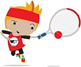 Mini red tennis coaching in Essex