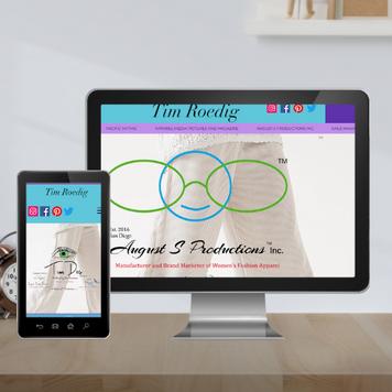 Fashion business website design