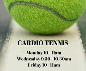 Cardio Tennis timetable in Brentwood Essex