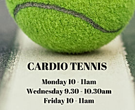 Cardio tennis timetable Brentwood, Essex