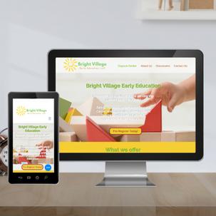 Day Care website design