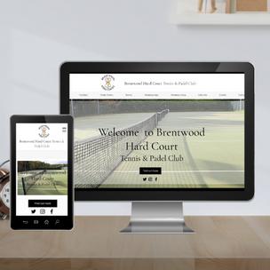 Tennis club website design