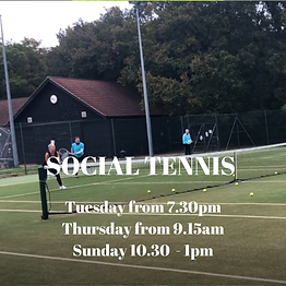 Social Tennis in Brentwood