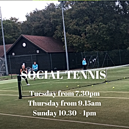 Social tennis in Brentwood, Essex