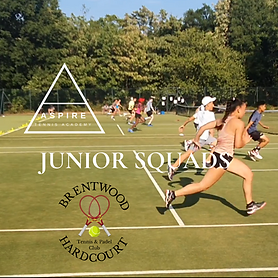 Junior squads at Brentwood Hard Court, Essex