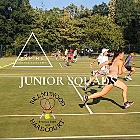 Junior squads at Brentwood Hard Court, Essex