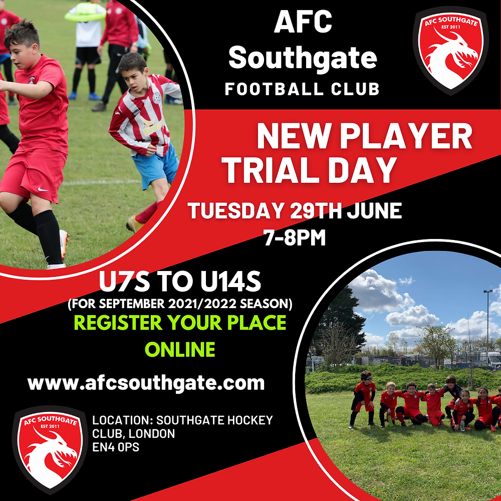 New player trials at AFC Southgate North London