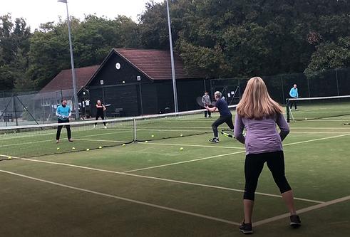 Cardio Tennis at Brentwood Hard Court tennis club, Essex