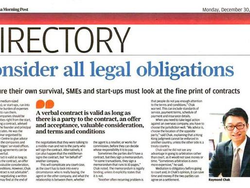 Consider all legal obligations