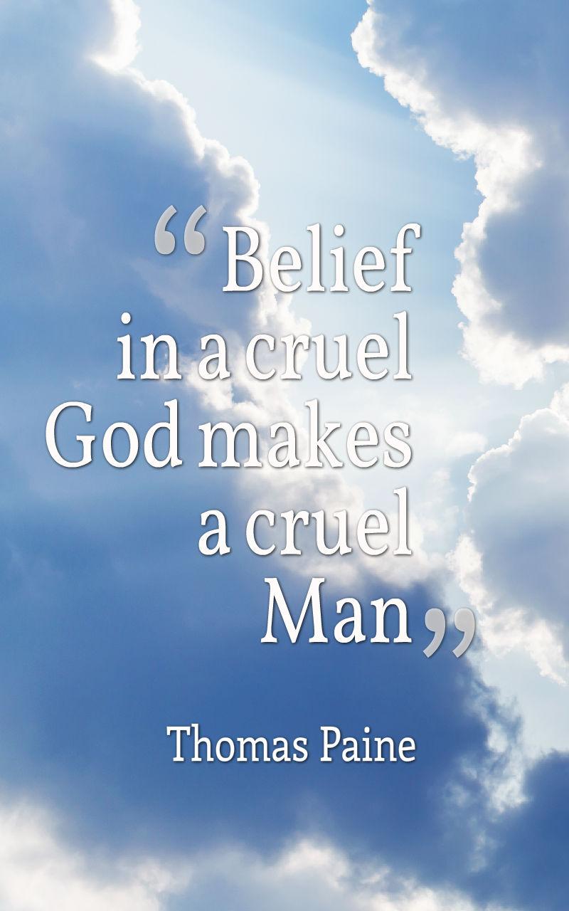Belief in a cruel God Thomas Paine quote gallery for African mummy in Deutschland