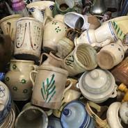 Calabria ceramics & stuffed eggplant