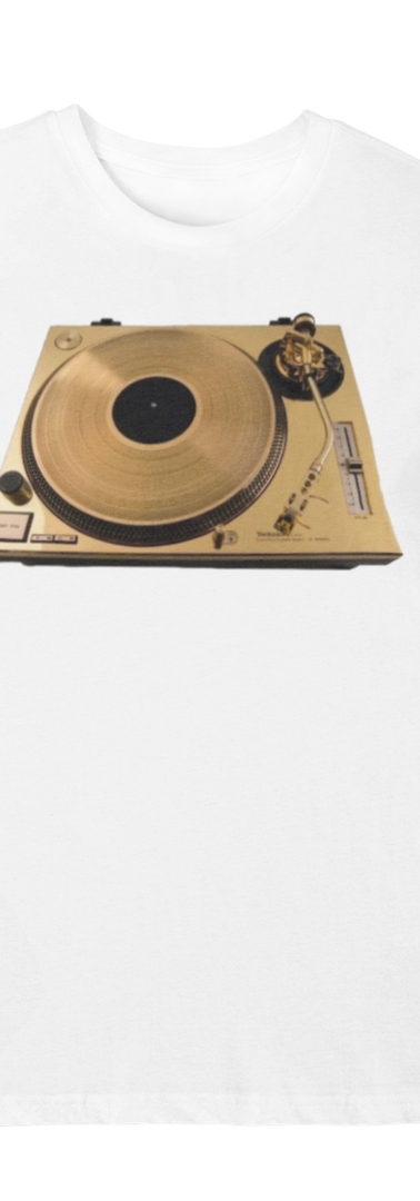 GOLD TURNTABLE WHITE TEE
