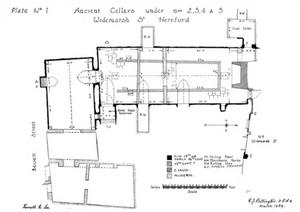 Edward Bettingtons 1939 Plan of Undercrofts