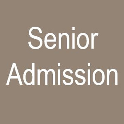 Senior Admission Ticket