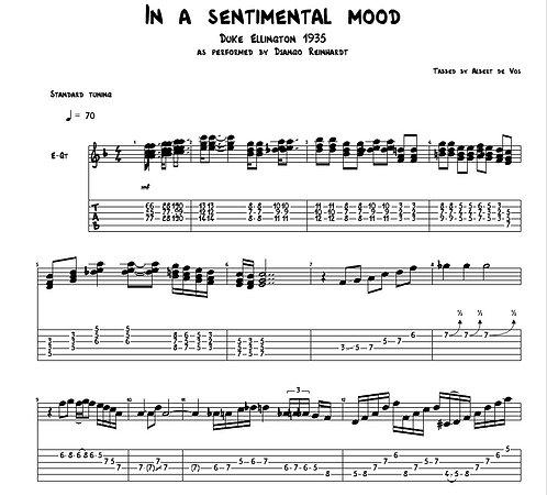 Django Reinhardt | Duke Ellington | In a Sentimental Mood | Guitar Manouche