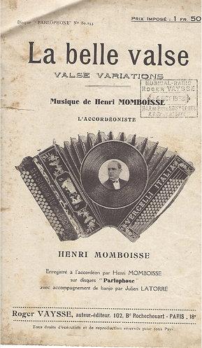 Henri Momboisse   Alcib Mario   La belle valse   Piano   Accordeon