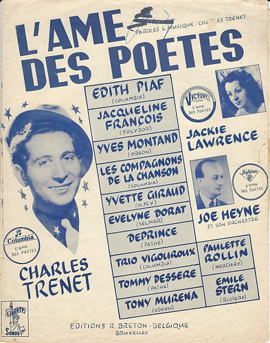 Charles Trenet | Edith Piaf | Yves Montand | L'ame des poetes | Piano | Vocals