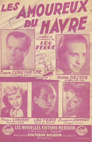 Leo Ferre | Eddie Constantine | Les Amoureux du Havre | Vocals